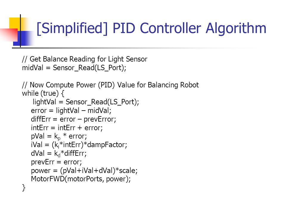 [Simplified] PID Controller Algorithm